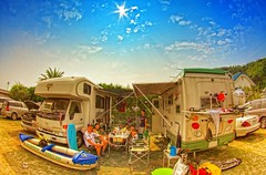 Camping in Shimoda (/\ltus) Tags: japan pentax surfing handheld freehand rv hdr izu shimoda tatado campingcars 5xp japanhdr k20d tatadobeach
