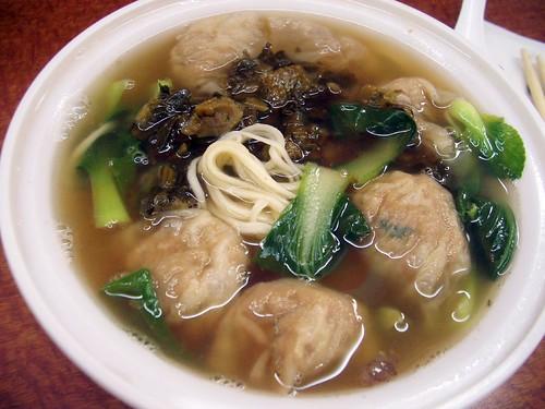 fujianese dumpling noodle soup @ sheng wang