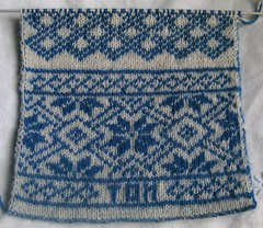 Double-knitted scarf 020