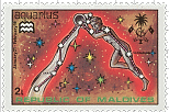 Maldive-Islands Aquarius Stamp