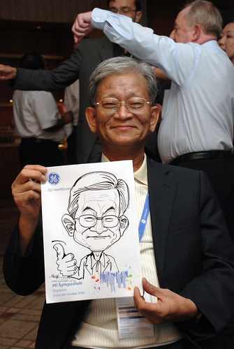 Caricature live sketching for GE Healthcare MI Symposium 2