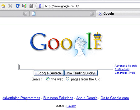 today on google.co.uk