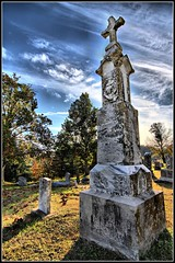 St George Cemetery Hermann, Missouri (Bettina Woolbright) Tags: house building grave graveyard tombstone missouri hdr oldbuilding hermannmissouri hermann bettina woolbright bettinawoolbright woolbr8stl bettinawoolbrightcom