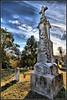 St George Cemetery Hermann, Missouri (Bettina Woolbright) Tags: house building grave graveyard tombstone missouri hdr oldbuilding hermannmissouri hermann bettina woolbright bettinawoolbright woolbr8stl bettinawoolbrightcom