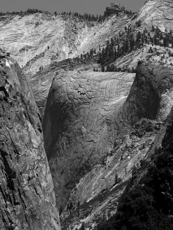 Tenaya Canyon from the Yosemite Valley