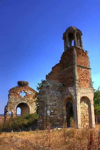 The remains of a church...