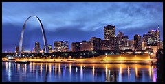 St Louis Skyline October 2008 (Bettina Woolbright) Tags: urban reflection skyline night buildings river mississippi cityscape arch stlouis missouri gatewayarch riverfront saintlouis stl hdr bettina stlouismissouri saintlouisarch stlouismo saintlouismissouri stlouisskyline woolbright saintlouismo stlouislandmarks saintlouistourist stlouislandmark bettinawoolbright woolbr8stl bettinawoolbrightcom saintlouislandmarks stlouisplacesofinterest saintlouisplacesofinterest stlouistourist stlouistouristattraction stlouisattraction saintlouislandmark