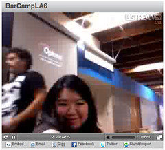 Joz on Tanjab's livestream at BarCampLA6