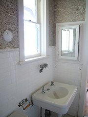 classic plumbing (mjanean) Tags: tile bathroom mirror sink convention faucet muskegon busterkeaton damfino