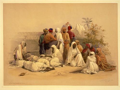 008- Un mercado de esclavos en el Cairo- David Roberts- 1846-1849