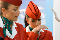 air italy (Giorgio Montersino) Tags: girls tourism eyes hands cabin makeup fair rimini crew airline hostess turismo fiera tradefair ttg airitaly tripshake