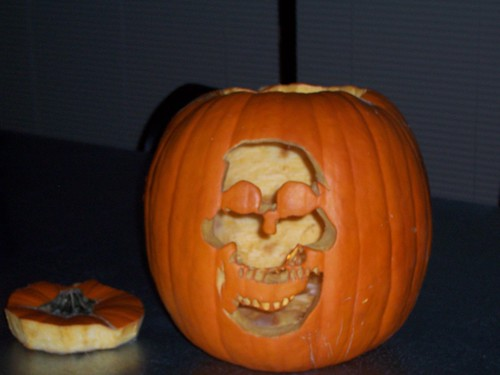 sarah underwood. Pumpkin Carving - Sarah Underwood - Skeleton