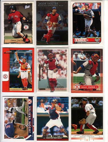 Jason Varitek assorted baseball cards 1