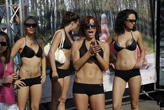 Girl Black Bikinis