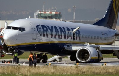 Ryanair crash Ciampino airport Rome