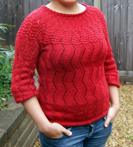 Red Lacy Jumper