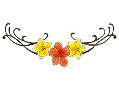 Flower wrist tattoo design yellow red orange image More at Wrist Tattoo