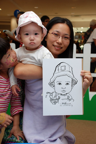 caricature live sketching for West Coast Plaza day 2 - 28