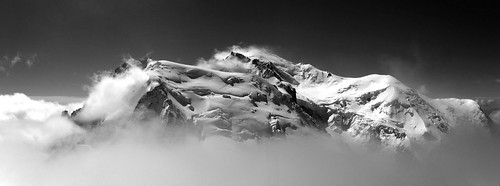 Mont-Blanc - Panorama B&W