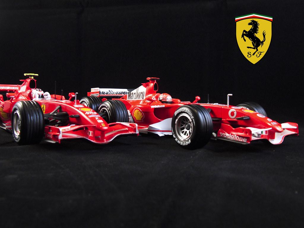 Ferrari F2007 & F248, Kimi & Schumi (01)