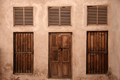 The beauty of the history (Ali AlKhudair) Tags: door old windows abstract history sepia hdr  monocolor  canon40d tamron18250
