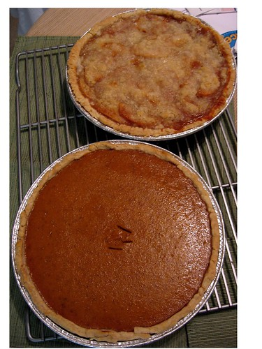 Pumpkin Pie and Apple Crumble Top Pie