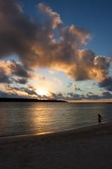 前浜の夕陽