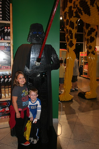 Darth Vader Lego Statue In Downtown Disney