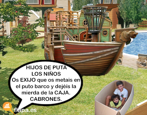 jardin barco pirata caja niños