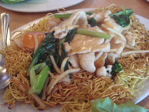 HK style fried noodles@Yum Yum