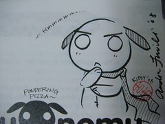 DailySketch 2008.12.13 (LoLpups!) Tags: cute sign sketch pups pizza autograph ponder anpan nemunemu