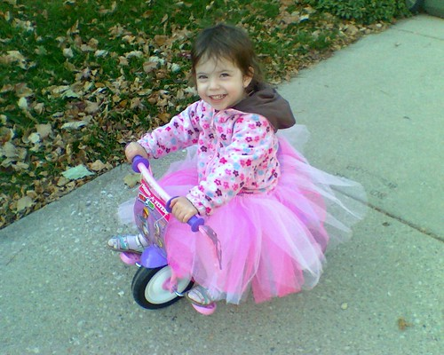 I ride so well I can do it in a tutu now.