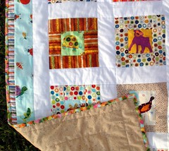 quilt top c backside, binding, borders, detail