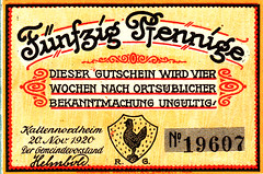 Kalternordheim, 50 pf, 1920 (Iliazd) Tags: germany inflation notgeld papermoney inflationary germancurrency emergencymoney 19171922 germanpapermoney
