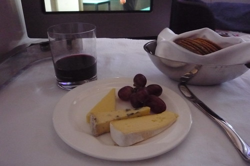 Virgin Upper Class - cheese plate