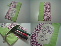Estojo (Lê Marques) Tags: patchwork bordado portalápis estojo nófrancês pontoatrás