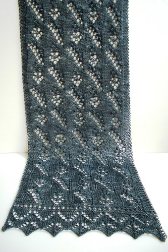 Lily of the Valley scarf-11.5 inches by 47 inches-1
