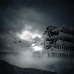 Aftermath (Midnight - digital) Tags: cinema building night aftermath artwork mood cd destruction apocalypse band atmosphere cinematic destroyed demolished fallout endoftheworld dystopia dystopian rubbles nohope devastated postapocalypse