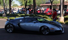 Bugatti Veyron (Monkey Wrench Media) Tags: arizona motion noir action side wheels profile wing az turbo 164 scottsdale bugatti sang eb spoiler veyron worldcars carsandcoffee sangnoir