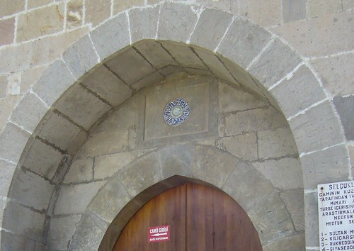 Konya, Mosquée d'Alaeddin, côté Nord, détail