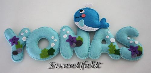 ♥♥♥ Yonas e a Baleia... by sweetfelt \ ideias em feltro