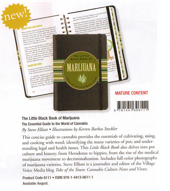Little Black Book of Marijuana - Peter Pauper 2011 catalog