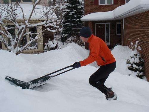 Scott shovelling