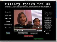 SplashCast Hillary speaks for Me