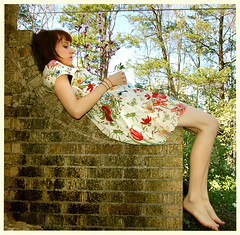 swoopsherri (Sherri DuPree Bemis) Tags: selfportrait fairytale butterfly spring dress 21 grasshopper forever magical makebelieve whimsical eisley firstquality sherridupree