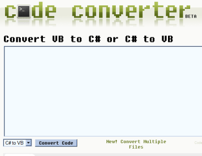 Code Converter de Telerik