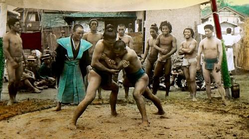 [フリー画像] 運動・スポーツ, スポーツ(その他), 歴史, 相撲, 日本, 日本人, 江南信國, 201101220100