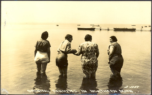 Michigan Women Antique Northern MI Bathing Beauties Card Love It