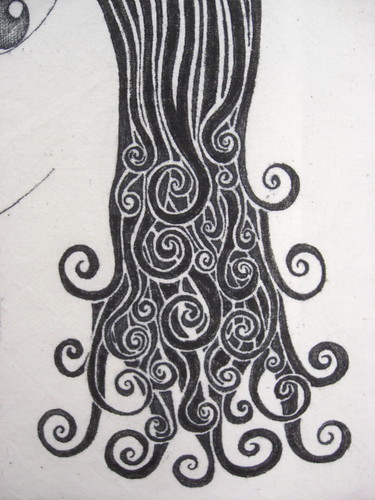 Girl With Curly Hair Drawing. curly hair girl drawing.