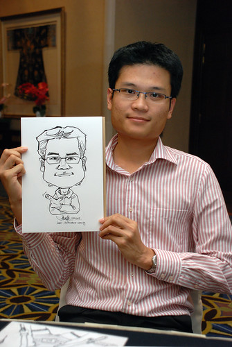Caricature live sketching SIA Engineering 9